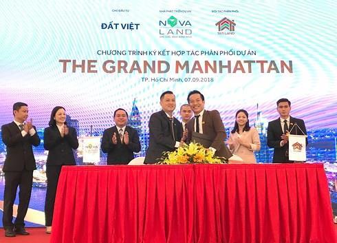 3 công ty là đại lý phân phối chính thức dự án The Grand Manhattan