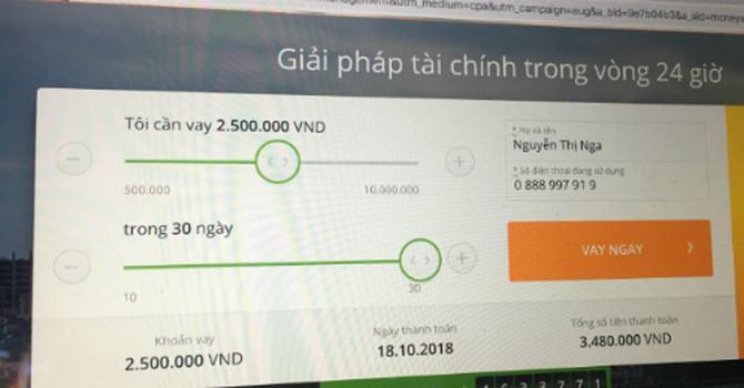 Bùng phát cho vay tiền trực tuyến lãi suất 720% mỗi năm