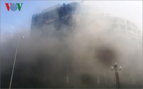HSG: Hỏa hoạn tại công trình đang thi công của Tập đoàn Tôn Hoa Sen