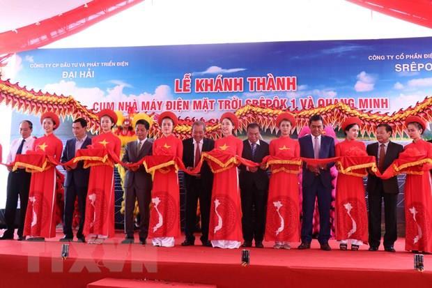 Phó Thủ tướng dự Lễ khánh thành cụm Nhà máy điện mặt trời tại Đắk Lắk
