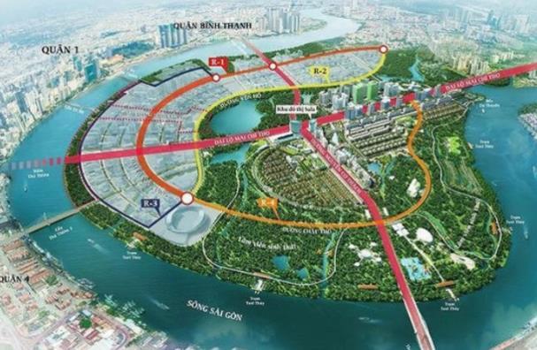 Khu đô thị mới Thủ Thiêm có 61 lô đất sẽ được đấu giá chọn nhà đầu tư